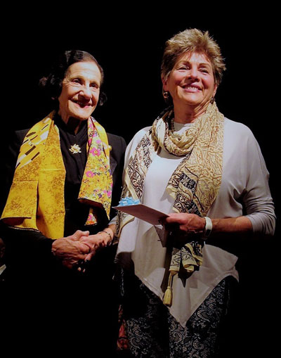 sandra with Professor the Honourable Dame Marie Bashir AD,CVO